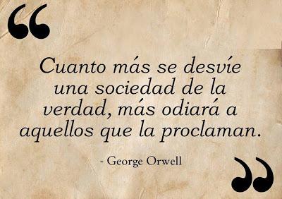 orwell desvio de la verdad