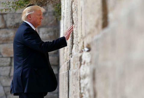 trump en el muro